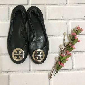 Tory Burch Black Ballet Flats